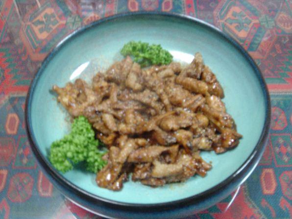 「うなぎの肝のスタミナ炒め煮」