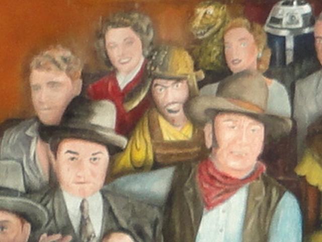 ハリウッドスターの壁画