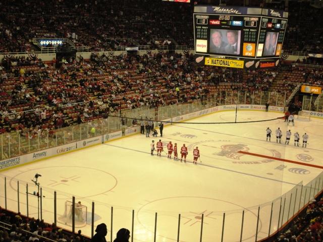 デトロイト レッドウィングス NHL ジョールイスアリーナ