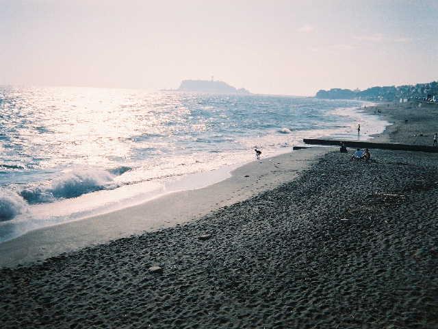 鎌倉 七里ヶ浜 江ノ島方面