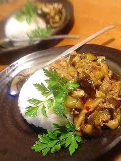 茄子と肉味噌ライス