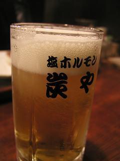 炭やのビール
