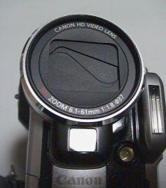 ビデオカメラHV10のレンズ部