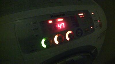 洗濯機の点灯パターン