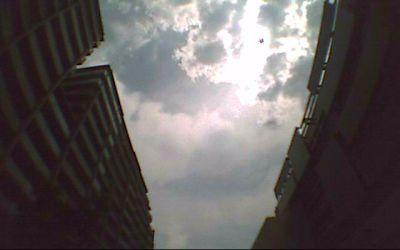 ドライブレコーダーで撮影した空