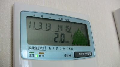 太陽光発電のモニタ表示画像