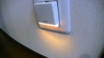 LEDホーム保安灯 外すと点灯