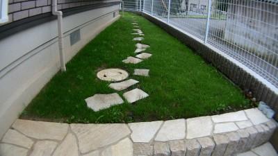 芝生が生えた庭