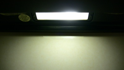 電球交換後の照明の明るさ