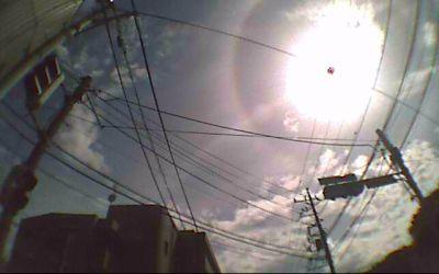 空を汚す電柱と電線