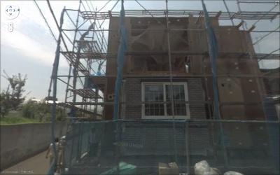 ストリートビューに撮られた建築中の我が家