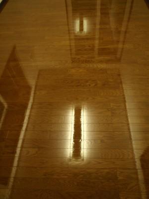 床に映る天井