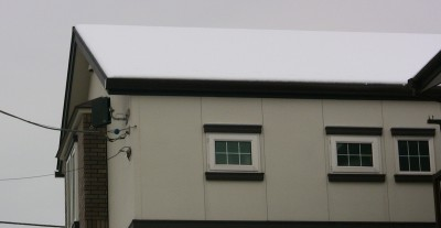 2/2朝の屋根北側