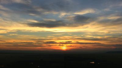釧路湿原 細岡展望台からの夕陽