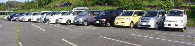 チロルの森の駐車場にて
