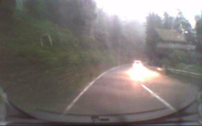 ドライブレコーダー「パパラッチ」の映像