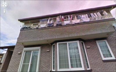 2階ベランダの洗濯物