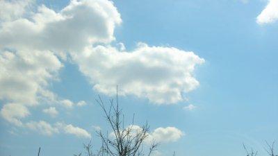 雲のある晴れた日