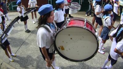 運動会の鼓笛隊で大太鼓