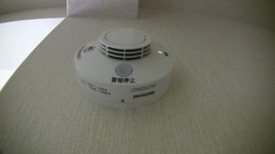 台所にある火災警報器