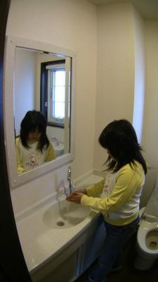 手洗い収納カウンター