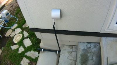 井戸ポンプの電源ケーブルの取り回し