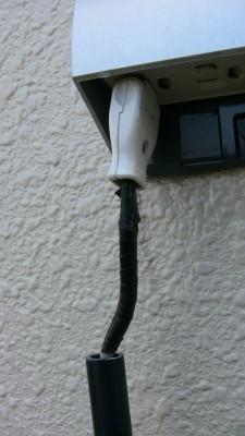 防水対応していない電源プラグ