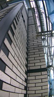 外壁のレンガ風サイディング