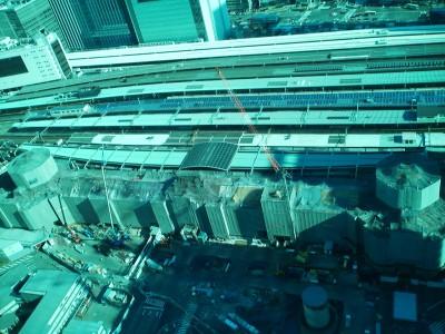 復元工事中の東京駅