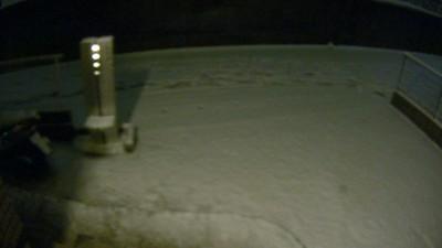 玄関周りの積雪