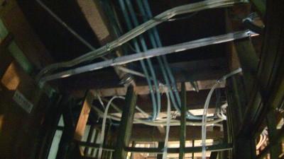 1階の天井の配管