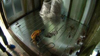 洗面所の床暖房