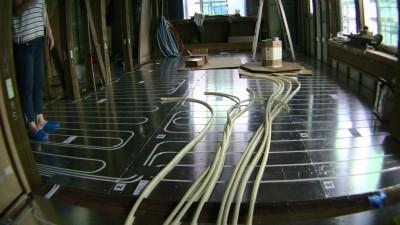 リビングの床暖房