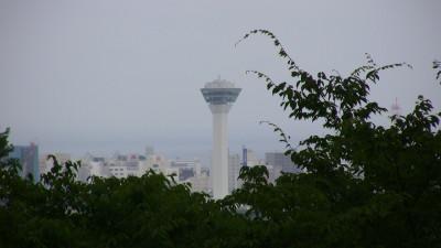 四稜郭から見た五稜郭タワー