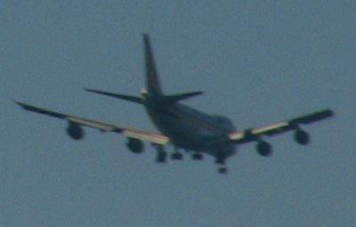 セントレアに着陸しようとする航空機