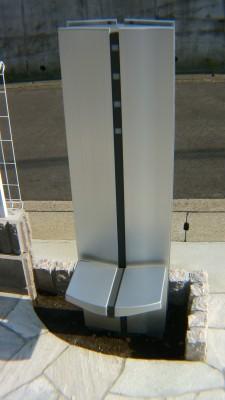 施工前の機能門柱