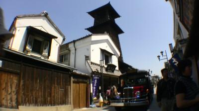 小江戸川越の時の鐘と巡回バス