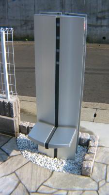 施工後の機能門柱