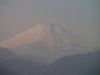 高尾山の山頂から見える富士山