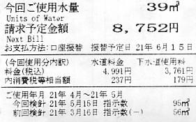 水道料金・下水道使用量の明細