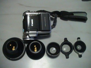ビデオカメラとワイドコンバージョンレンズ