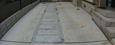 駐車場の砂利敷き