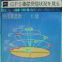 GPS衛星受信状況を見る