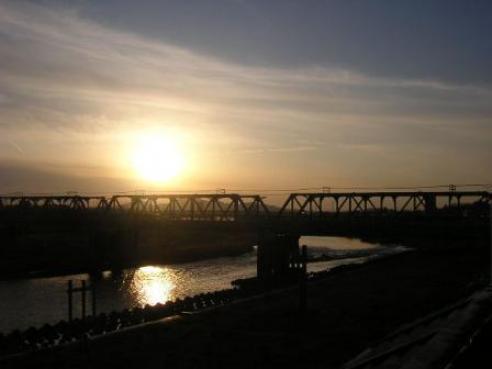 090212 渡良瀬橋の夕日