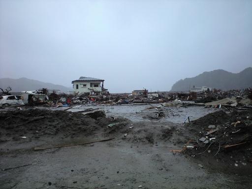 釜石市、被災地