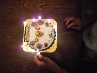 アイスケーキ プーさん 点火
