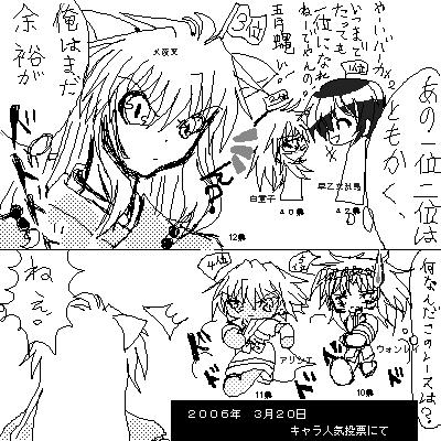 1.早乙女乱馬 2.白童子 3.犬夜叉 4.アリシエ 5.ウォンレイ