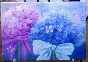 紫陽花完成