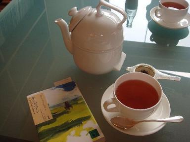 チェックアウト後の紅茶