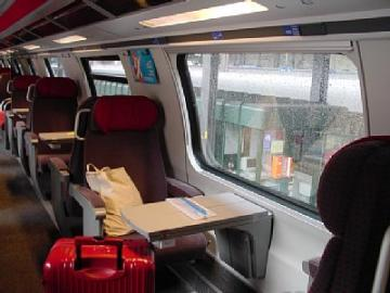 スイスの列車 2階席